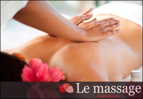 6€ για ενα ολοσωμο χαλαρωτικο μασαζ διαρκειας 45', απο το Le Massage στην Καλλιθεα