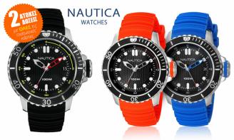 Ανδρικο Ρολοι Nautica NMX Dive Style, σε Μπλε, Κοκκινο η Μαυρο Χρωμα