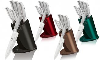 Σετ με 5 Μαχαιρια Κουζινας Berlinger Haus Kikoza Collection με Laser Cut Λεπιδες