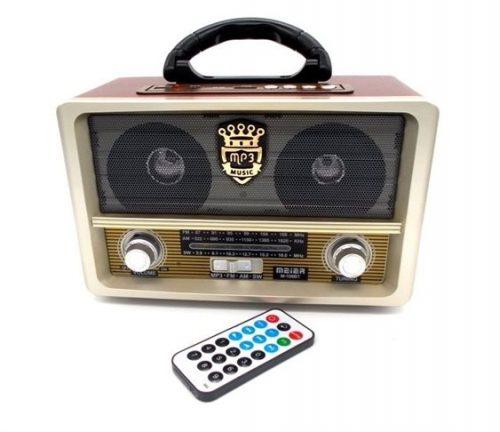 Ρετρο Φορητο Επαναφορτιζομενο Ραδιοφωνο USB/SD/MP3/Recorder