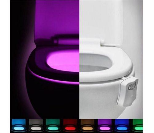 LED Φως με 8 Χρωματα & Αισθητηρα Κινησης για Λεκανη Τουαλετας