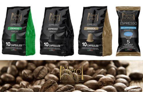 Ιταλικες Καψουλες ΚΑΦΕ συμβατες με μηχανες NESPRESSO: Η Καλυτερη τιμη της αγορας (απο 0,18€/καψουλα)! Απολαυστε αρωματικο Ristretto η Espresso η Lungo, απο τη NeroNobile, την ηγετιδα εταιρια στην Ιταλικη βιομηχανια καφε!